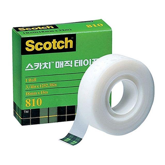 3M)스카치 매직테이프 리필(810R_18×15m)-박스(120개입)