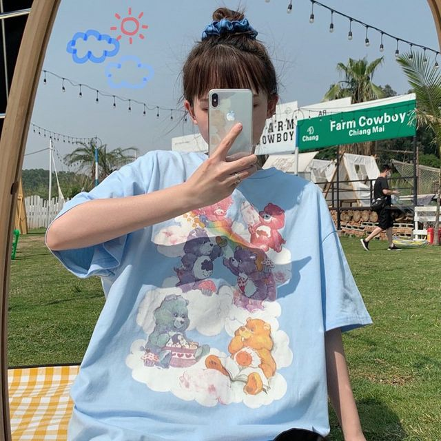 [해외] 여성 티셔츠 캐주얼 블라우스 조수 몸