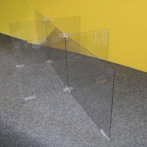 6인용 투명 가림막 칸막이 간편조립 아크릴