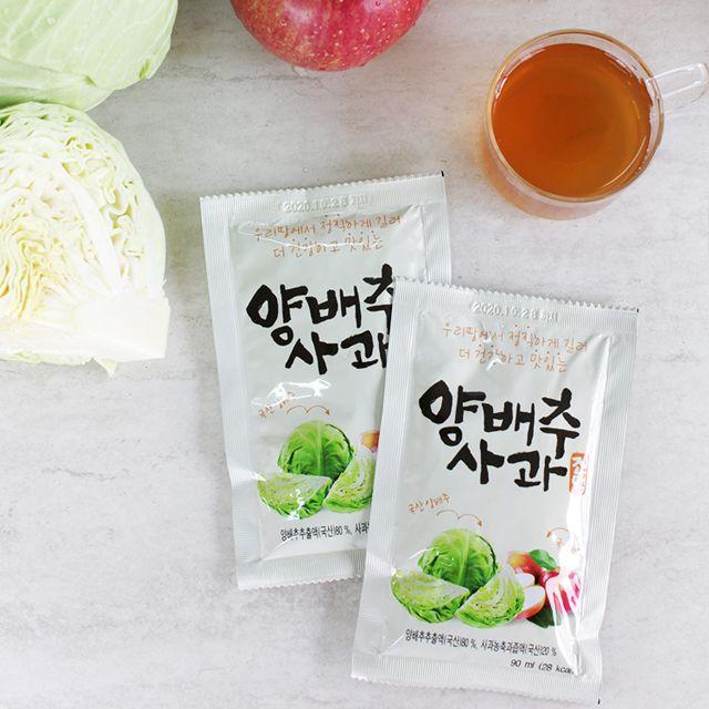 (선물 30팩) 몸에좋은 양배추 사과즙,야채,채소,야채수,건강식품,건강즙,양배추,양배추즙,양배추사과즙,양배추사과