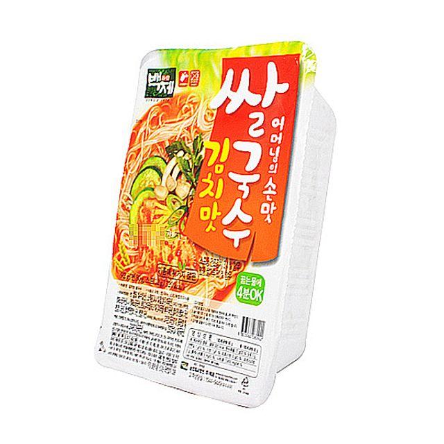 즉석 백제식품 김치맛 쌀국수 92g X 30EA 1BOX,백제식품,즉석,김치맛,쌀국수,92g