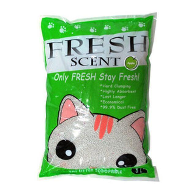 고양이모래 화장실 프레쉬 모래 5L 사과향