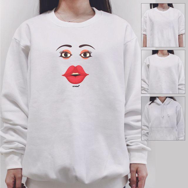 W 키밍 sexy 여성 남성 티셔츠 후드 맨투맨 반팔티