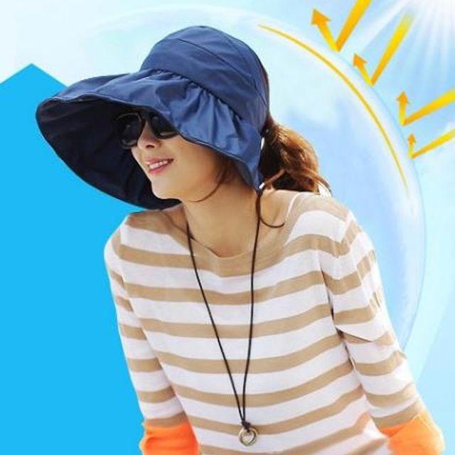 W 돌돌이 썬캡 여성 여름 모자 챙넓은 바캉스