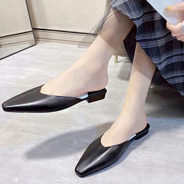 W 여자 데일리 신발 심플 무지 디자인 모던 플로퍼