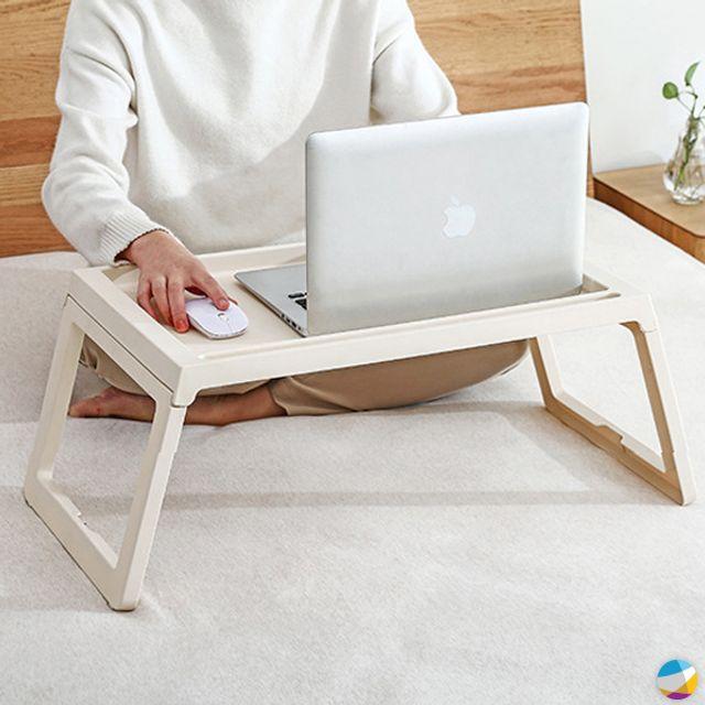 사이드테이블 다용도 접이식 베드트레이 노트북테이블