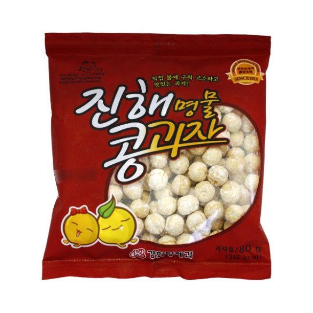 [더산쇼핑]진해콩과자 (80g) 경화당제과 진해명물콩과자 진해과자 진해콩스낵 진해콩간식