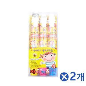 안전한 어린이 키즈펜 3색x2개 어린이선물 유아크레용