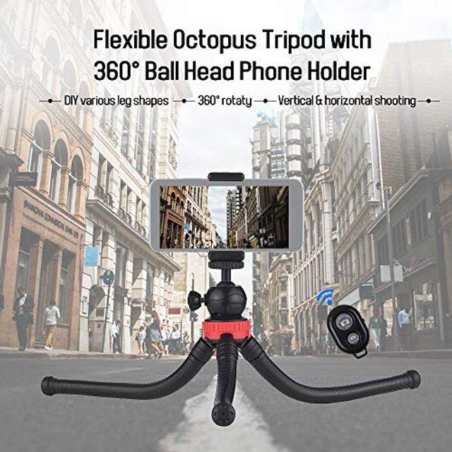 Wgwioo Portable Flexible Cell Phone Octopus Tripod Phone Holder Selfie Tripod
