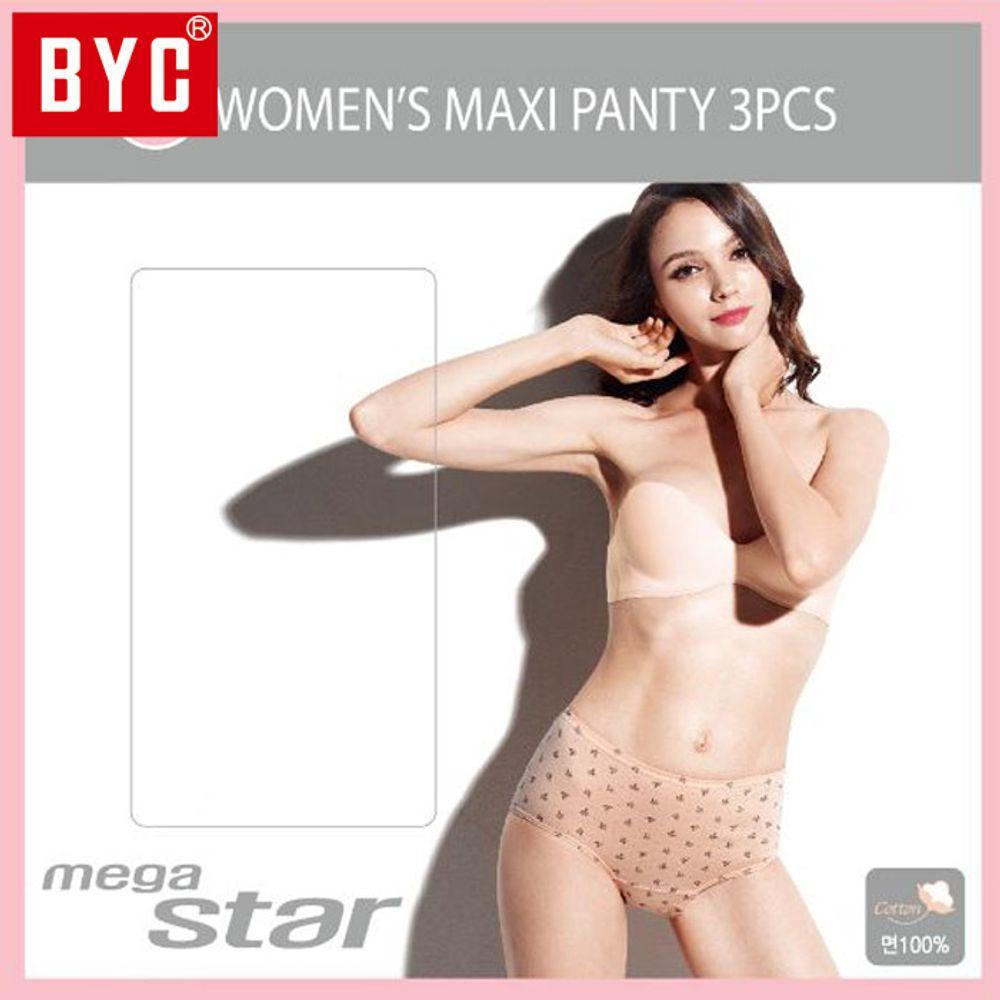 (BYC)여성 메가스타 맥시 3매입 삼각팬티(M7117)