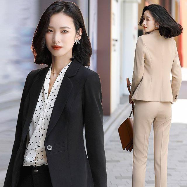 [해외] 여성 패션 재킷 자켓 정장세트 공식 작업복 정장