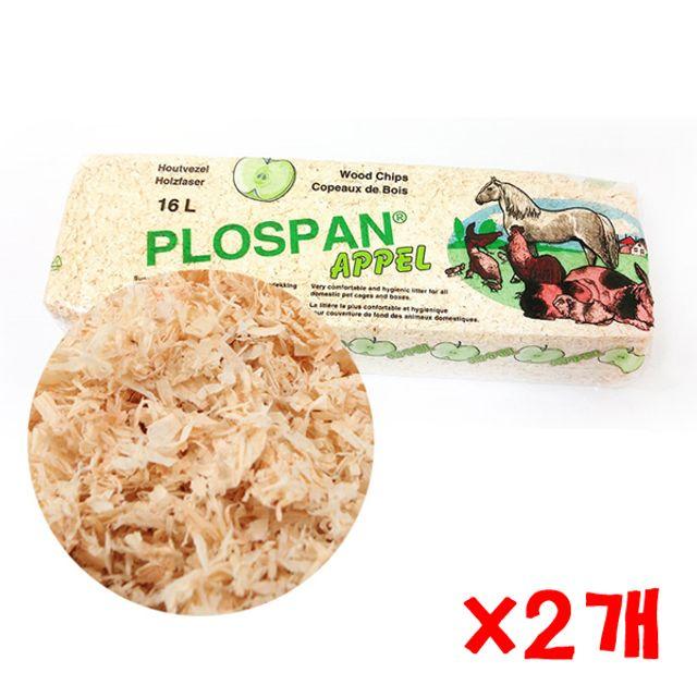 프로스판 베딩 16L(사과향) X 2개 소나무베딩 펫톱밥