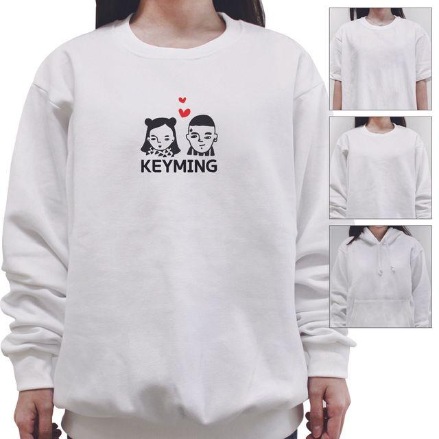 W 키밍 커플 여성 남성 티셔츠 후드 맨투맨 반팔 커플티