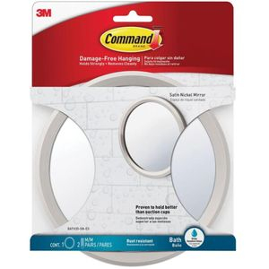 3M 욕실 세면대 붙이는 원형 벽거울 화장대 부착식