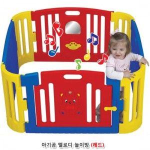 유아동 아기곰 멜로디 놀이방 레드