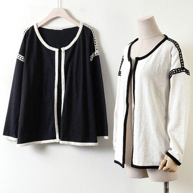 코엘 오픈 가디건 여성 패션 의류 캐주얼 재킷