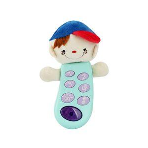 아기 키즈 전화기 형겊 인형 장난감 음악 멜로디 완구