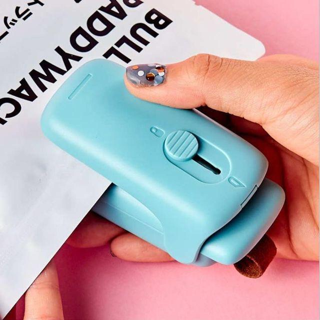 W 키밍 미니 실링기 가정용 비닐접 착기 밀봉기 휴대용