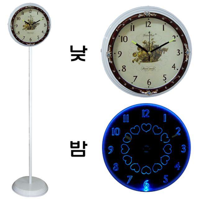 韩国直邮GB 6601单面取针等台灯表 白色蓝光灯 钟表