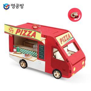 DIY 태엽오르골 피자 트럭 YM958 원목완구 블럭
