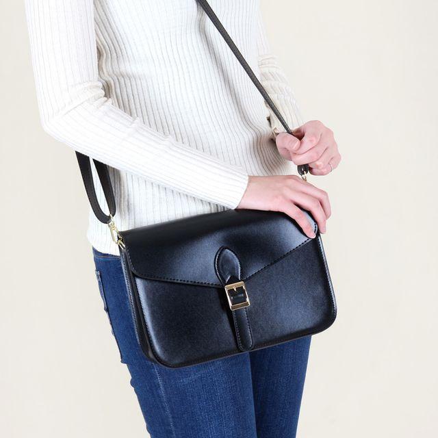 W 모던 디자인 크로스백 벨트 스트랩 포인트 여자 가방