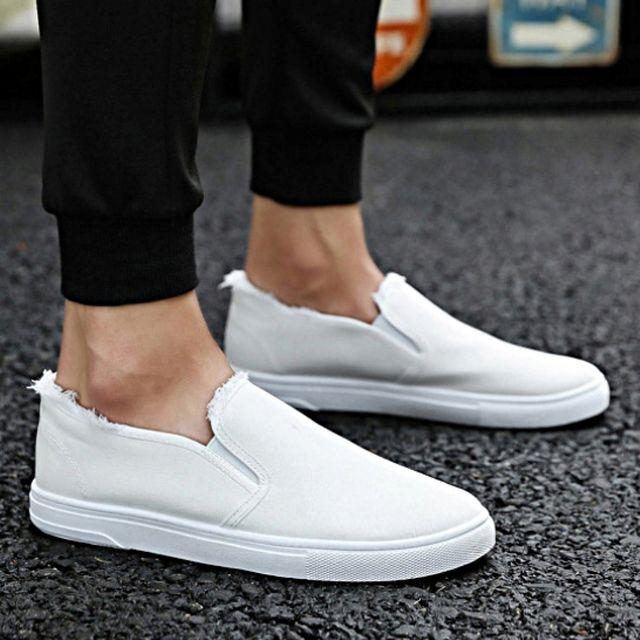 W 남자신발 헤짐 패션 운동화 슬립온 스니커즈 캐주얼화