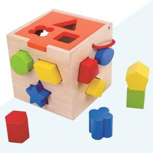 입체 도형 블록 익히기 교구 원목 블록 장난감 완구