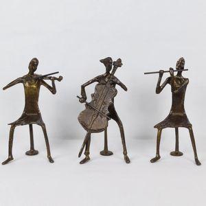 수공예 황동 악기3중주 조각상 장식품 인테리어 소품