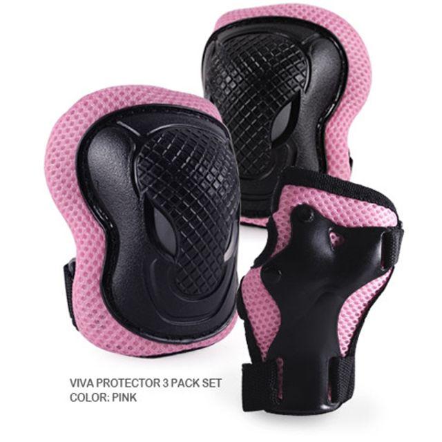 비바 아동 인라인 자전거 보호대 핑크 손 팔꿈치 무릎