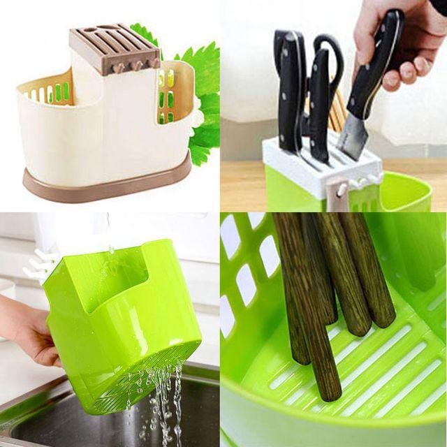 W 다용도 주방 용품 정리 수납 칼 수저 멀티 정리 꽂이