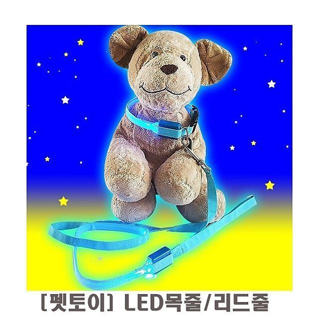 펫토이 LED목줄 리드줄 임의배송  강아지 애견 개