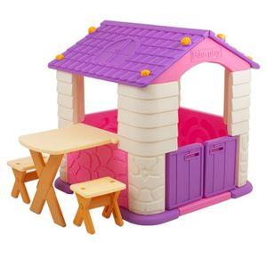 유아 놀이 플레이 하우스 책상 테이블 세트 바이올렛