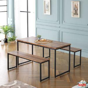 LPM상판 1400 사각철다리 테이블 4인식탁 G-356