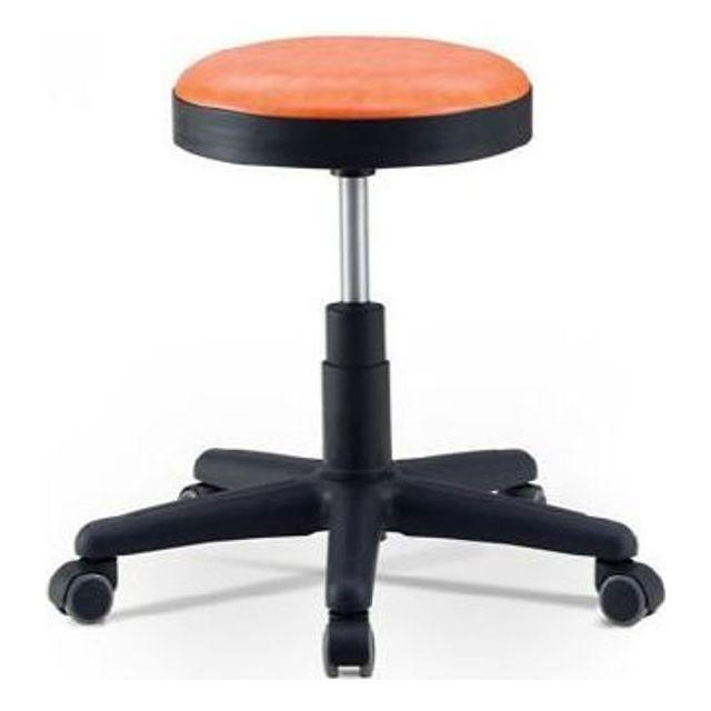 동그란 의자 바퀴 오렌지 병원 회의 상담 간이 환의자