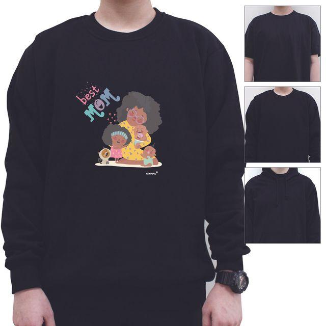 W 키밍 MOM 여성 남성 티셔츠 후드 맨투맨 반팔티