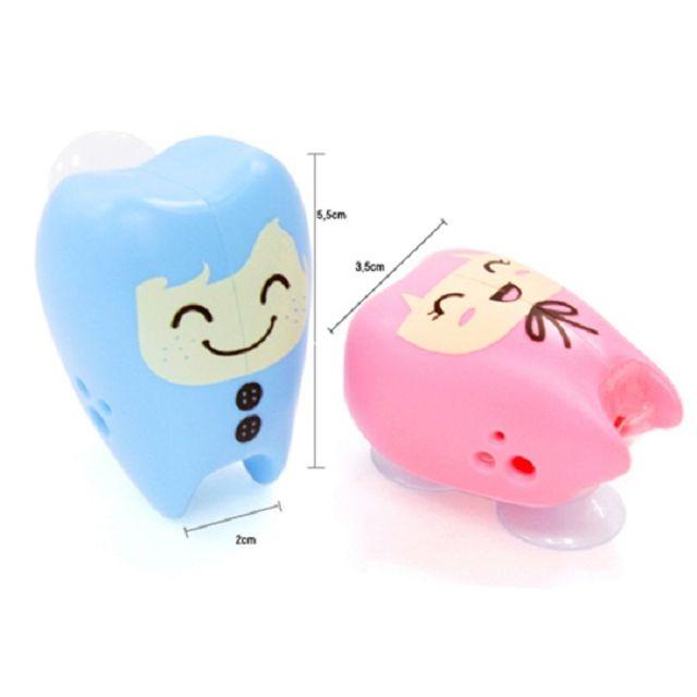칫솔걸이 투스페어리 2P 파랑 분홍 칫솔홀더 칫솔꽂이