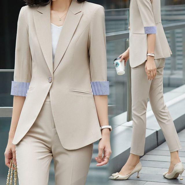[해외] 여성 패션 재킷 자켓 정장세트 슬리브 전문 정장
