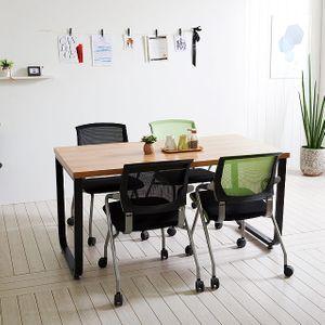 스틸뷰 1200 철제 테이블 식탁