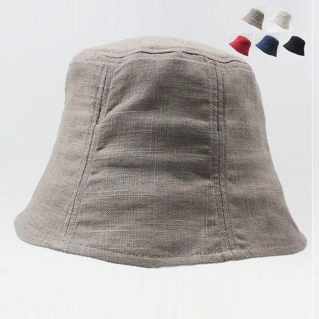 W 키밍 휴대용 여름 여성 린넨 벙거지 모자 버킷햇