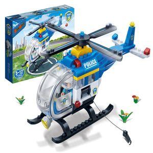 창의력 상상력 발달 선물 완구 블록 경찰 헬리콥터