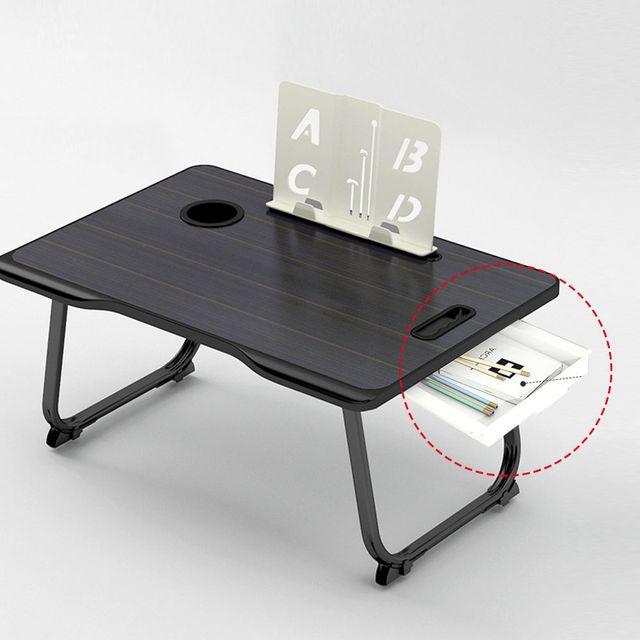 W 노트북 서랍 테이블 침대 책상 베드 트레이 1인용