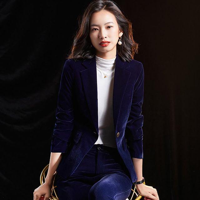 [해외] 여성 패션 재킷 자켓 정장세트질 얇은 전문 정장