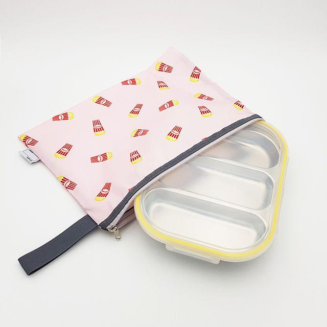 팝핑팝콘 3구 옐로우 diet 어린이집 식판 도시락