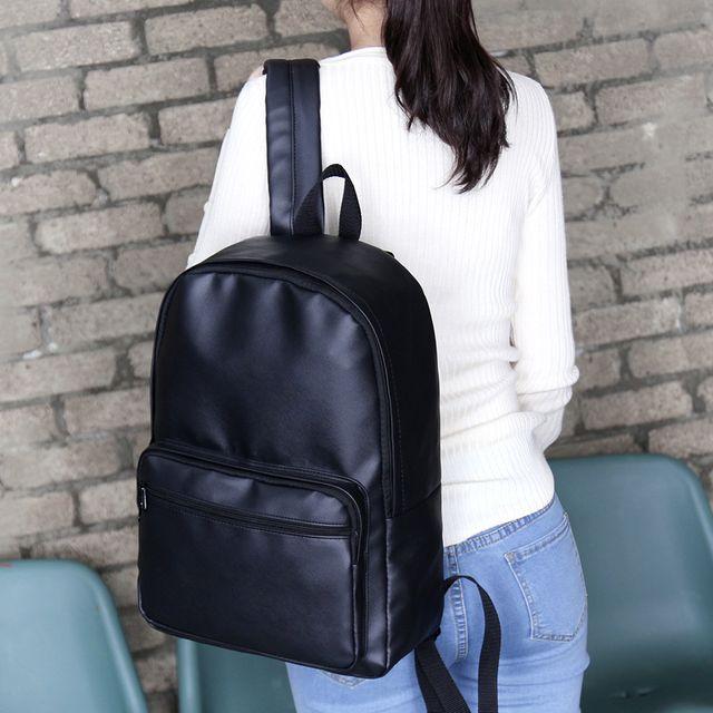 W 깔끔한 무지 디자인 학생 직장인 가방 패션 백팩