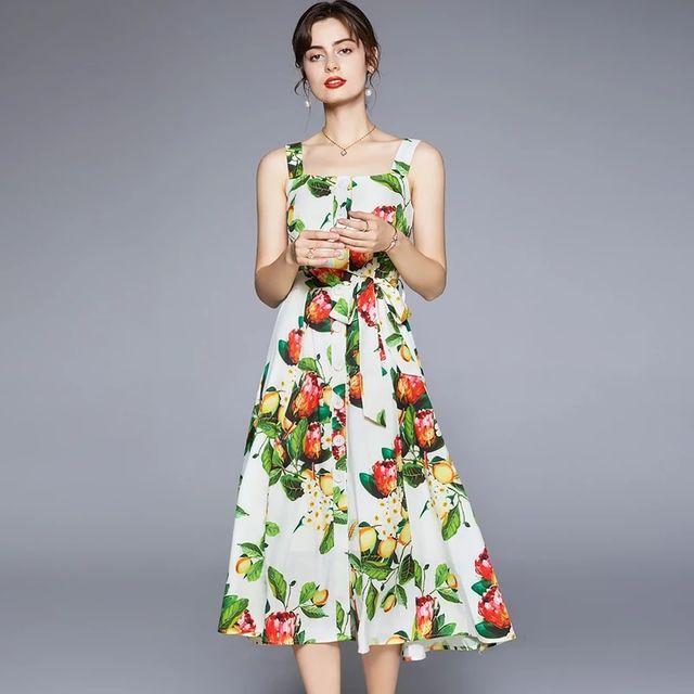 [해외] Banulin 여자 보헤미안 비치 드레스 여름 2021 활주로