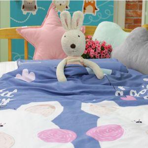 어린이집 아기 유아 낮잠 이불 가방 세트 라텍스 블루