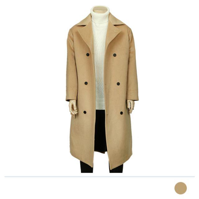 롱 더블단추 울 코트-베이지 남성 리즈코 맨즈도매 남자 맨도매 겨울 아우터 남자옷도매