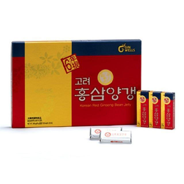 【韩国直邮】高丽营养红参羊羹45gx20