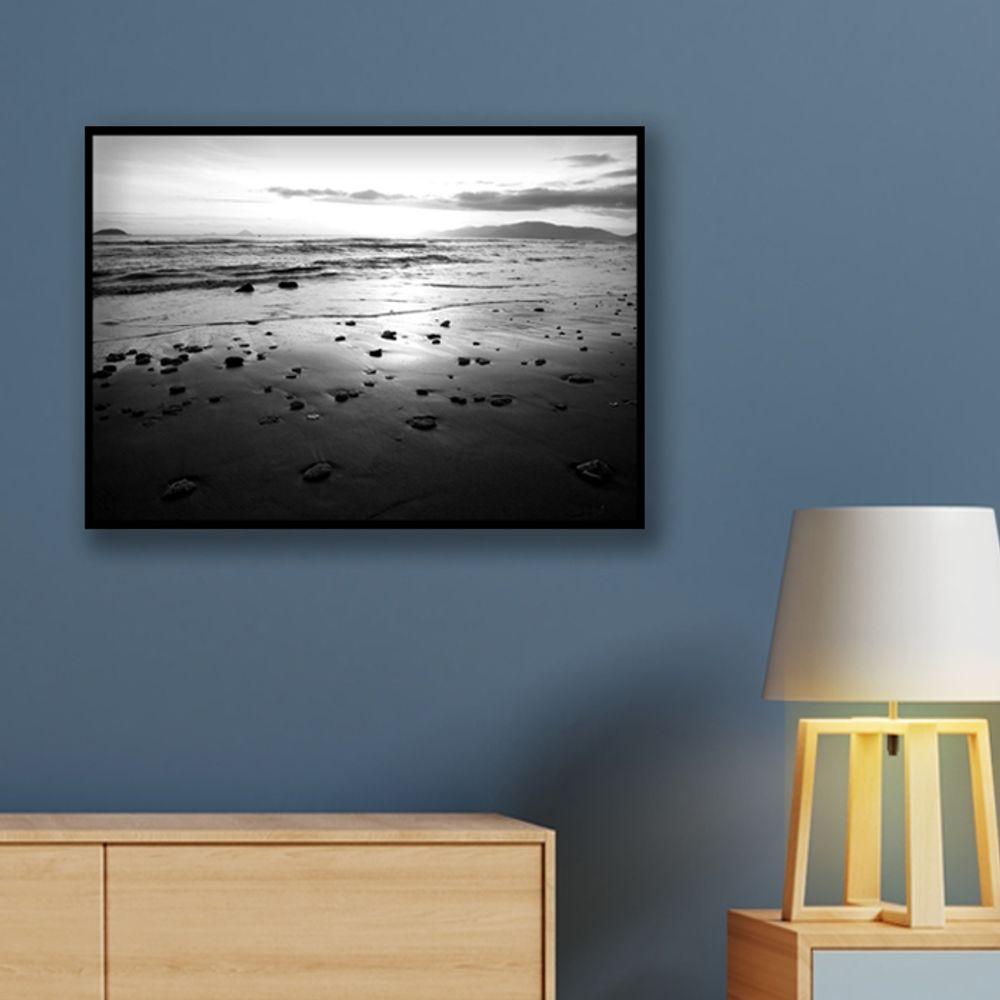 사진 인테리어 액자  자연 풍경 흑백사진 A3블랙AL6