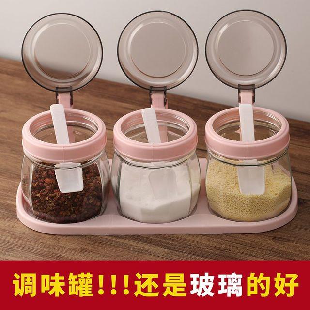 [해외] 가정용 조미료 항아리 소금통 MSG 조미료 상